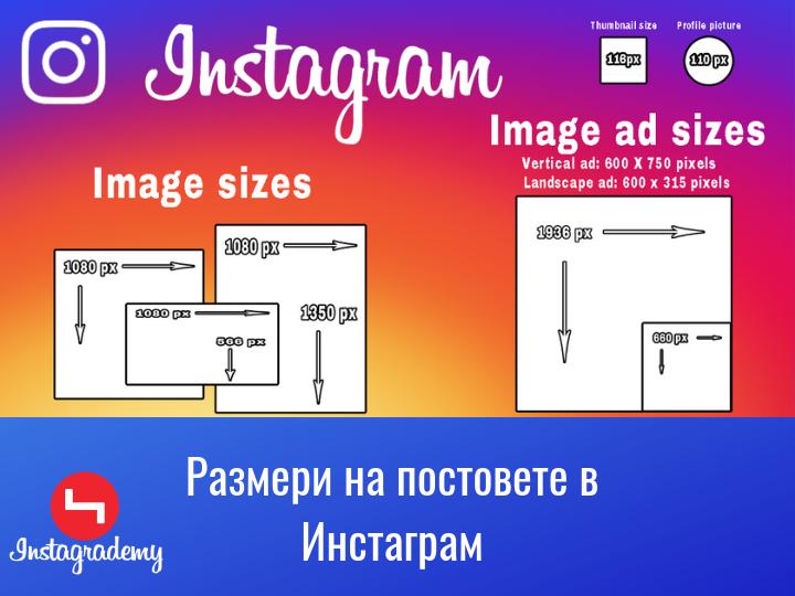 Размери на Снимките в Инстаграм